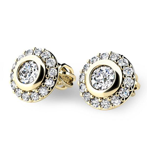 Diamantové náušnice pecky 10822-ZL
