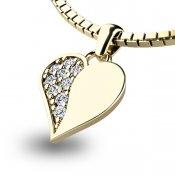 Zlatý přívěsek s diamanty 10880-ZL