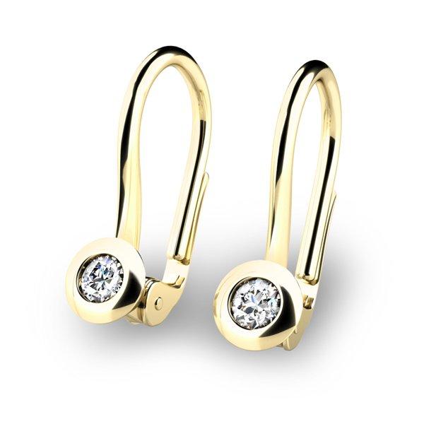 Náušnice s diamanty 10824-ZL