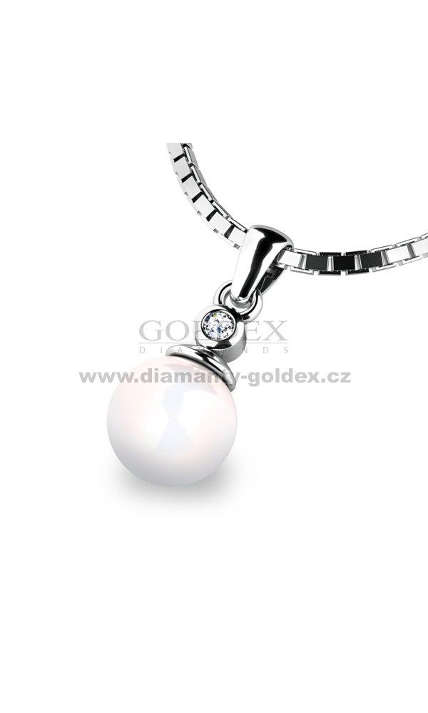 a2ecfd3a2 Přívěsek s perlou a diamanemt 10870B-DIA : Diamanty-goldex.cz