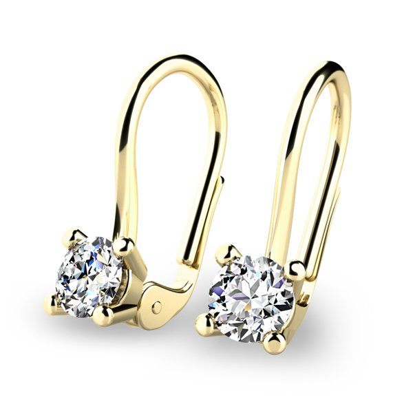Visací diamantové náušnice 10827-ZL