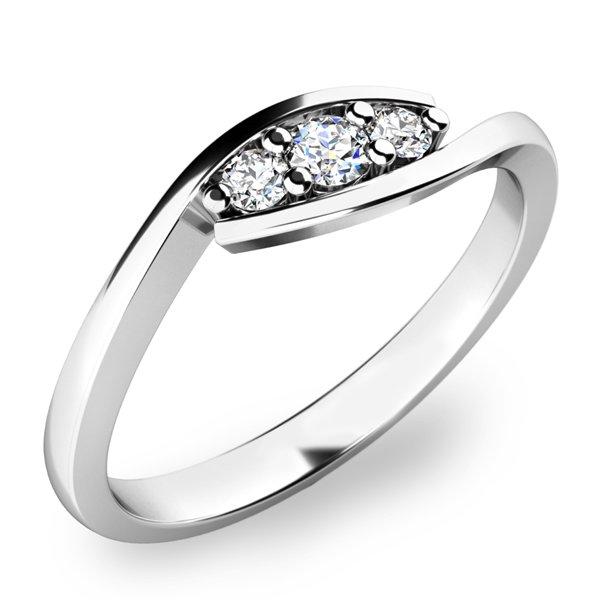 Prsten s diamanty 10847D