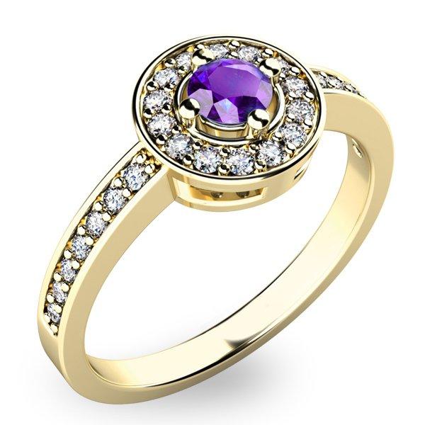 Dámský prsten s tanzanitem a diamanty 10802Z-TZNT