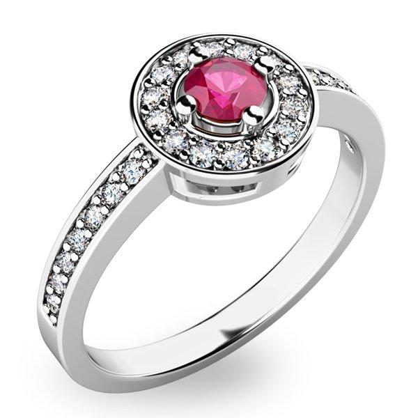 Krásný prsten s turmalínem a diamanty 10802B-TUR