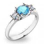 Prsten s topazem a diamanty 10803B-TPZ