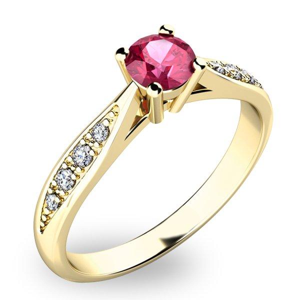 Krásný prsten s turmalínem a diamanty 10745Z-TUR