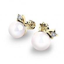 Pecky s perlami a diamanty 10890-ZL-FW
