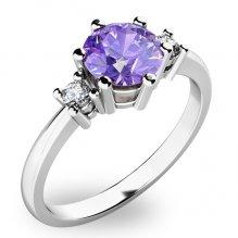 Krásný prsten s tanzanitem a diamanty 10856B-TZNT