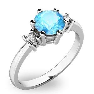 Dámský prsten s topazem a diamanty 10856B-TPZ