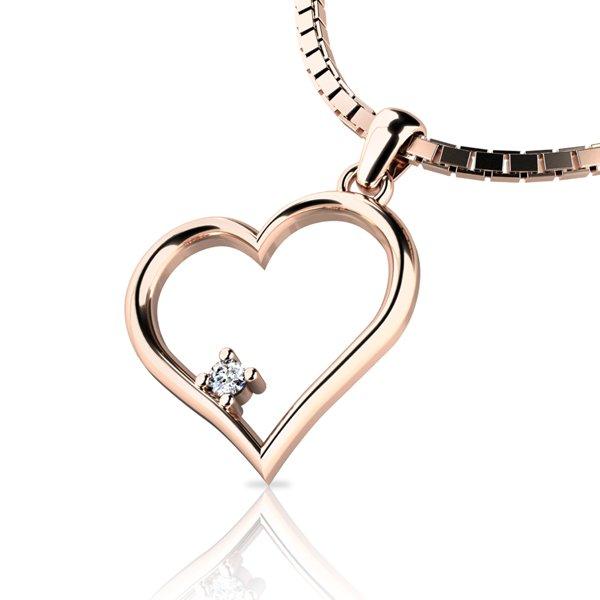 Zlatý přívěsek s diamantem 10875-CV