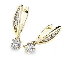 Visací náušnice a diamanty 10871-ZL