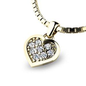 Zlaté srdce s brilianty 10877-ZL-DIA