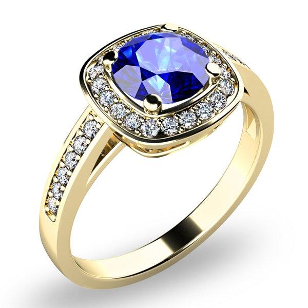 Dámský prsten s tanzanitem a brilianty 10766-ZL-TAN