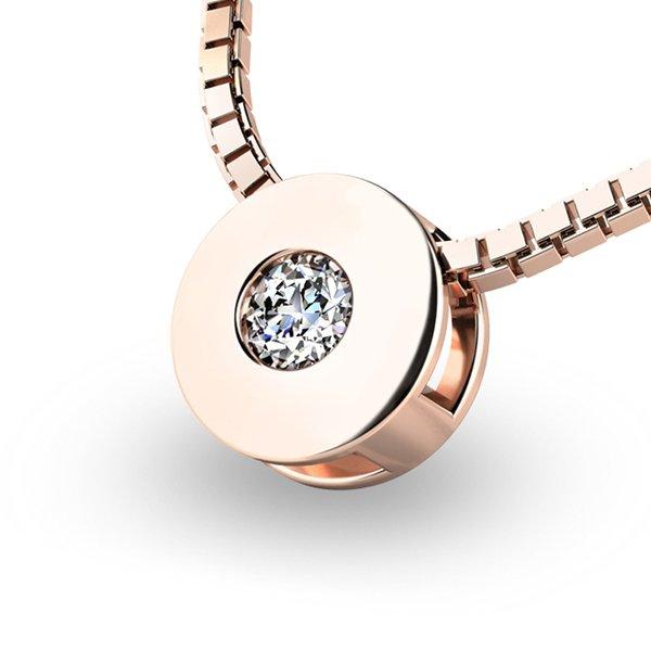 Přívěsek s diamantem z růžového zlata 10912-CV