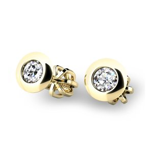 Diamantové náušnice ze žlutého zlata 10825-ZL