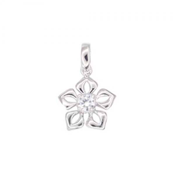 Zlatý přívěsek s diamantem - květina GKW57513