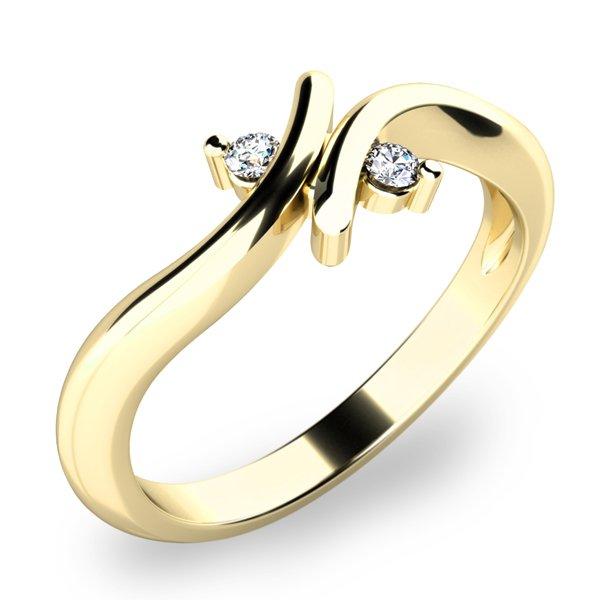 Prsten s diamanty 10850D