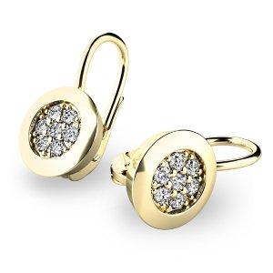 Diamantové náušnice ze žlutého zlata 10902-ZL