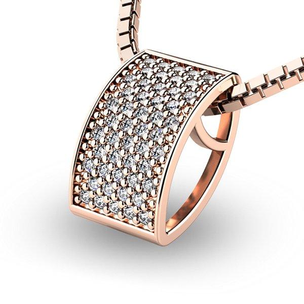 Diamantový přívěsek z růžového zlata 10919-CV