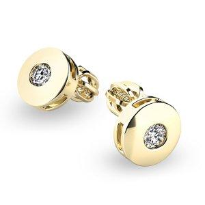 Zlaté náušnice s diamanty 10911-ZL