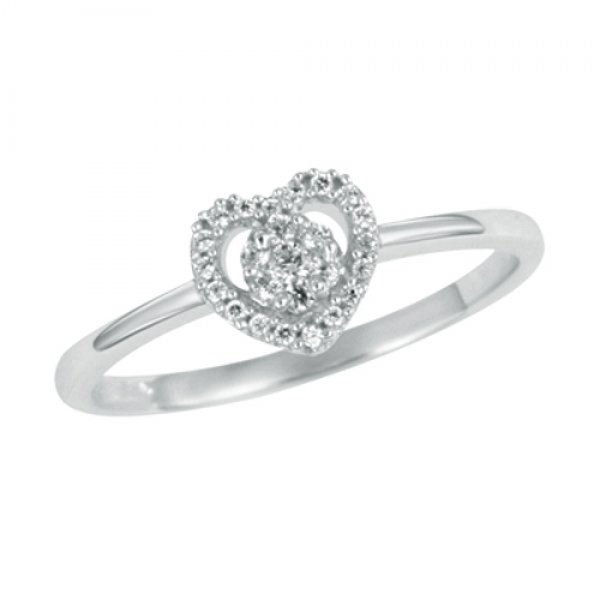 Romantický prsten s diamanty GKW45723