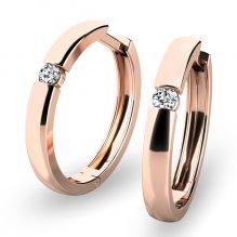 Zlaté kruhy s diamanty 10915-CV