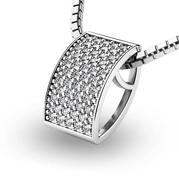Diamantový přívěsek z bílého zlata 10919-B