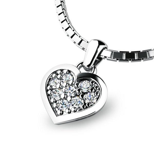 Zlaté srdce s brilianty 10877-B-DIA