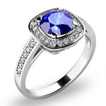 Dámský prsten s tanzanitem a brilianty 10766-B-TAN