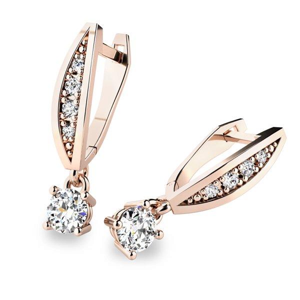 Visací náušnice a diamanty 10871-CV