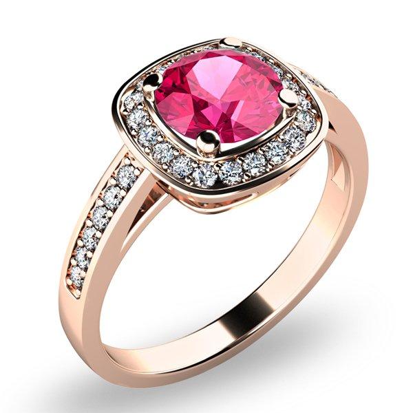 Dámský prsten s turmalínem a brilianty 10766-CV-TUR