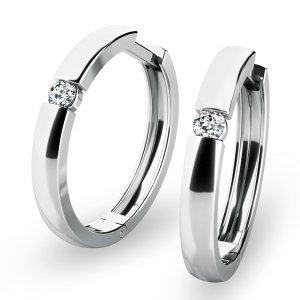 Zlaté kruhy s diamanty 10915-B