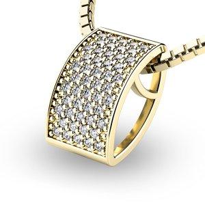 Diamantový přívěsek ze žlutého zlata 10919-ZL