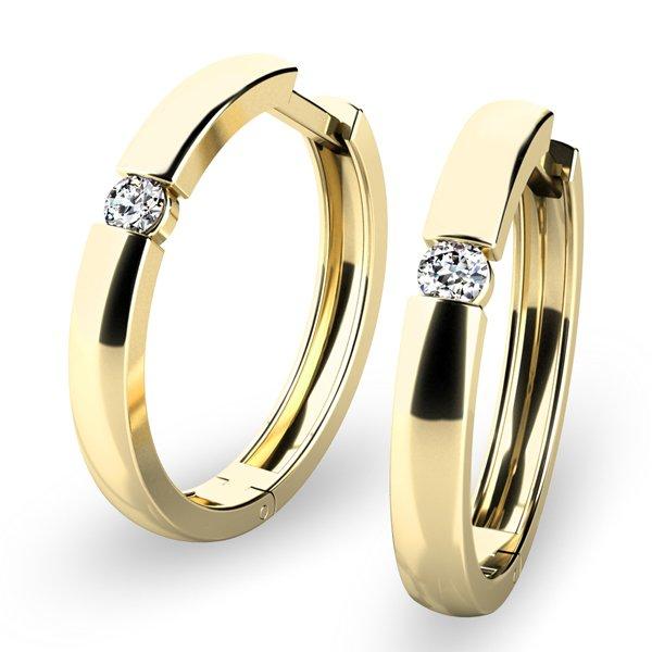 Zlaté kruhy s diamanty 10915-ZL