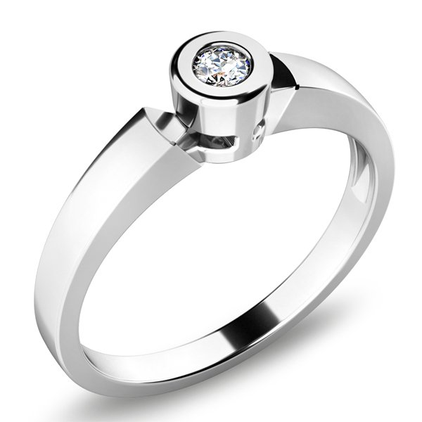 Dámský prsten s diamantem 10934D