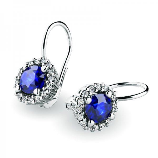 Luxusní náušnice s diamanty 10925-B-SAF