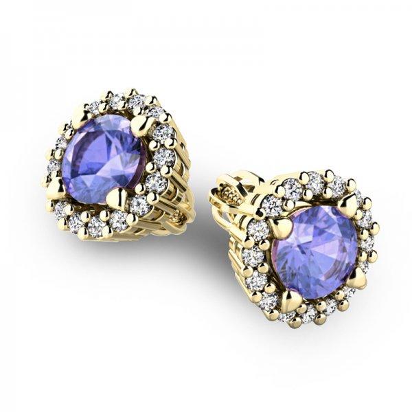 Luxusní náušnice s diamanty 10926-ZL-TAN