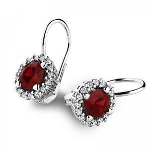 Luxusní náušnice s diamanty 10925-B-GRA