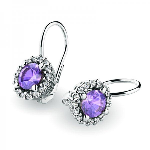 Luxusní náušnice s diamanty 10925-B-TAN
