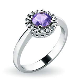 Dámský prsten s tanzanitem a brilianty 10924-B-TZN