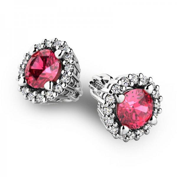 Luxusní náušnice s diamanty 10926-B-TUR