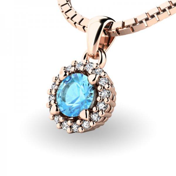 Luxusní přívěsek s diamanty 10927-CV-TPZ