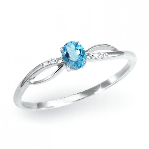 Prsten s topazem a diamanty GKW46582TPZ