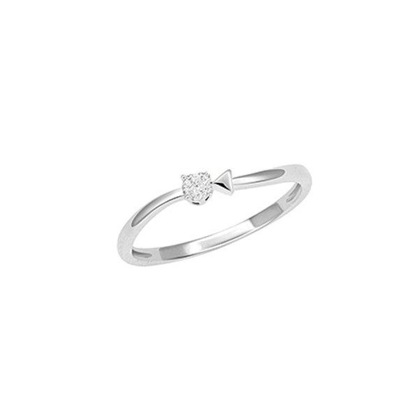 Prsten z bílého zlata s briliantem GKW57281