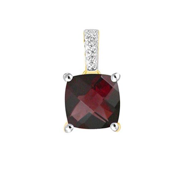 Briliantový přívěsek s granátem a diamanty GKW48528GRA