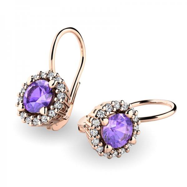 Luxusní náušnice s diamanty 10925-CV-TAN