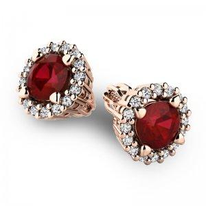 Luxusní náušnice s diamanty 10926-CV-GRA