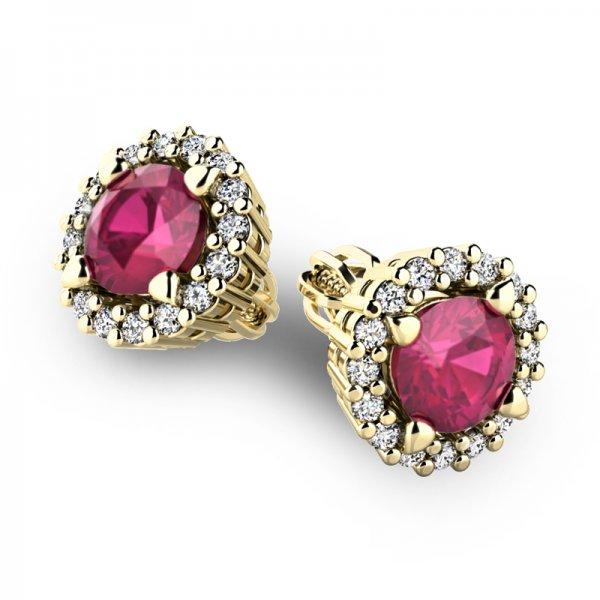 Luxusní náušnice s diamanty 10926-ZL-RUB