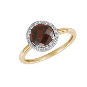 Prsten s diamanty a s granátem GKW47231GRA