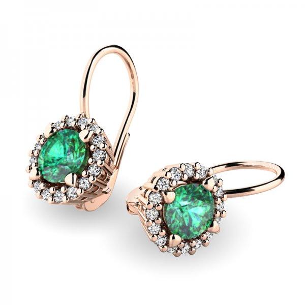 Luxusní náušnice s diamanty 10925-CV-SMAR
